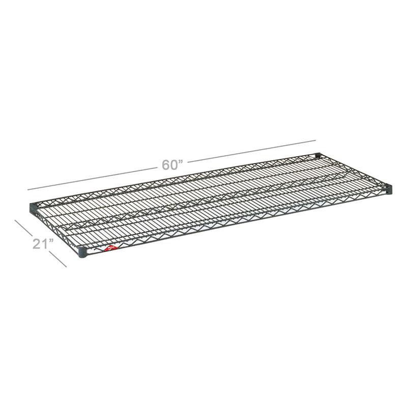 Metro 2160NC Super Erecta Shelf, Wire, 21 in D x 60 in L, Chrome P