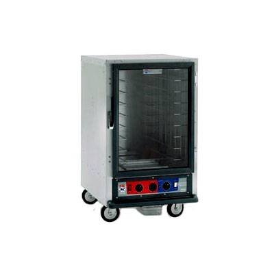Metro C515-HFC-4 C5 1/2-Height Heated Holding Cabinet, Clear Door, Fixed Wire Slides