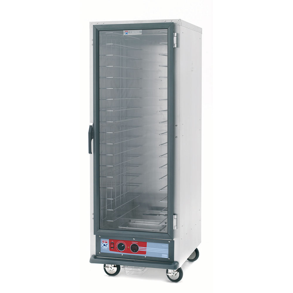 Metro C519-CFC-L C5 Full Height Heated Proof & Hold Cabinet, Clear Door, Lip Load Slides