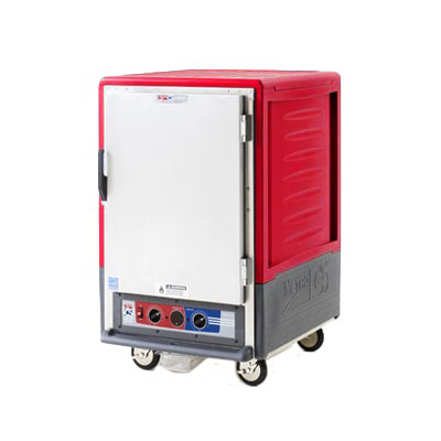 Metro C535HFCL C5 3 Series Heated Holding Cabinet, 1/2 H, Lip Load, Clear Poly Dr