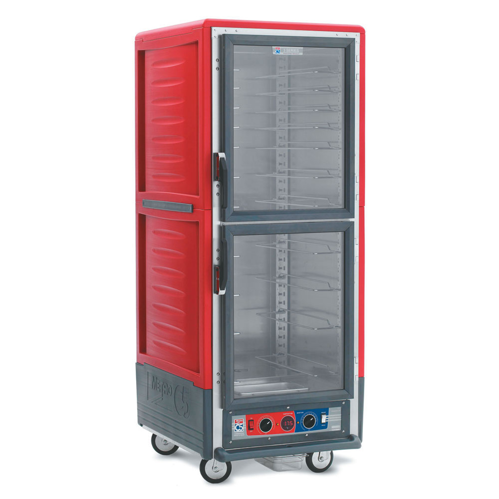 Metro C539HDC4 C5 Full Height Heated Holding Cabinet, Insulated, Clear Dutch, Fixed Wire