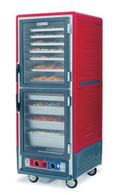Metro C539-HDS-4 C5 Full Height Heated Holding Cabinet, Insulated, Solid Dutch, Fixed Wire Slides