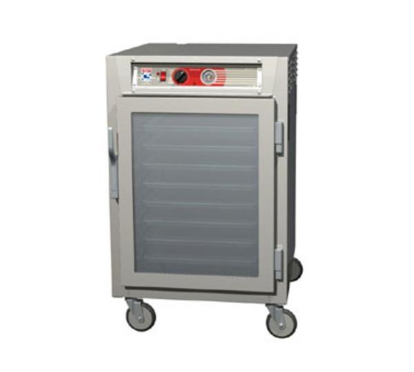 Metro C565-NFC-UPFC C5 1/2-Height Pass Thru Heated Holding Cabinet, Aluminum, Clear Doors, Universal