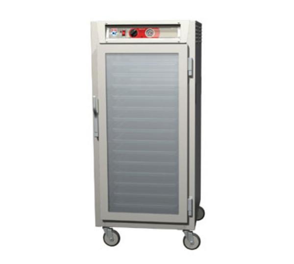Metro C567-NFC-L C5 3/4-Height Heated Holding Cabinet, Aluminum, Clear Door, Lip Load Slide