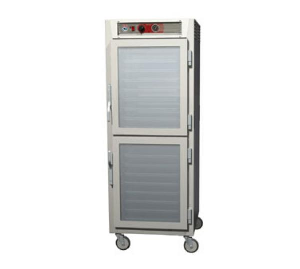 Metro C569-NDC-LPDS C5 Full Height Pass Thru Heated Cabinet, Aluminum, Clear/Solid Dutch,