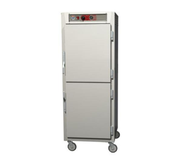 Metro C569-NDS-UPDC C5 Full Height Pass Thru Heated Cabinet, Aluminum, Solid/Clear Dutch, Universal