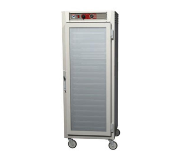 Metro C569-NFC-U C5 Full Height Heated Holding Cabinet, Aluminum, Clear Doors, Universal Slides