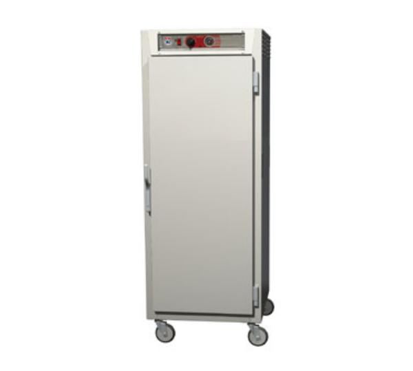Metro C569-NFS-L C5 Full Height Heated Holding Cabinet, Aluminum, Solid Doors, Lip Load Slides