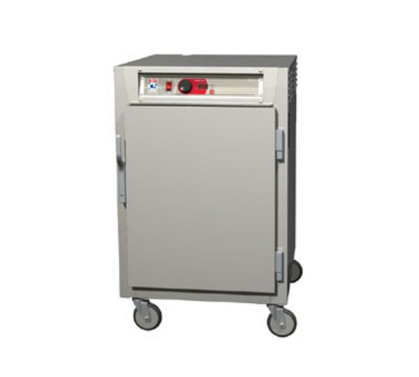 Metro C585-NFS-LPFS C5 1/2-Height Pass Thru Control Temp Cabinet, Aluminum, Solid Doors, Lip