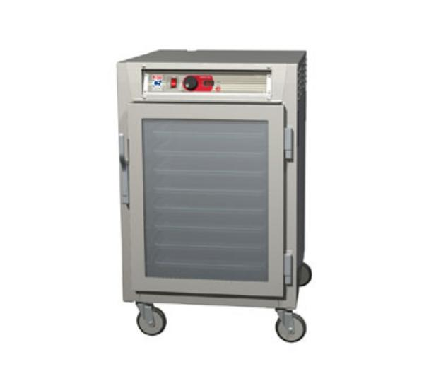 Metro C585-SFC-LPFC C5 1/2-Height Pass Thru Control Temp Cabinet, Stainless, Clear Doors, Lip Load