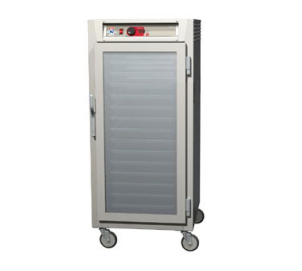 Metro C587-SFC-L C5 3/4-Height Control Temp Holding Cabinet, Stainless, Clear Door, Lip Load