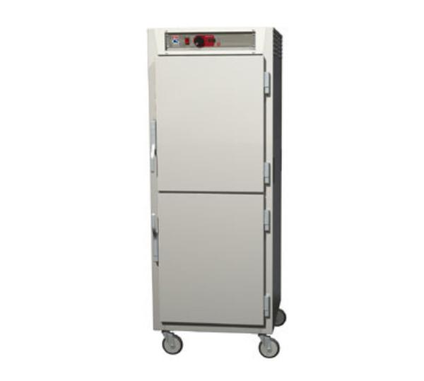 Metro C589-NDS-LPDS C5 Full Height Pass Thru Control Temp Cabinet, Aluminum, Solid Dutch, Lip Load