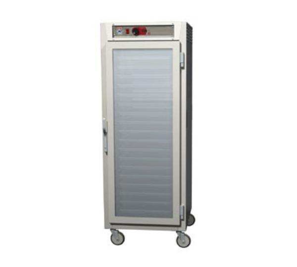 Metro C589-NFC-LPFS C5 Full Height Pass Thru Control Temp Cabinet, Aluminum, Clear/Solid, Lip Load
