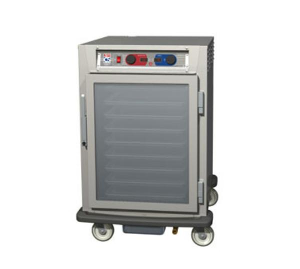 Metro C595-SFC-UPFC C5 1/2-Height Pass Thru Control Temp/Humidity, Stainless, Clear Doors, Universal