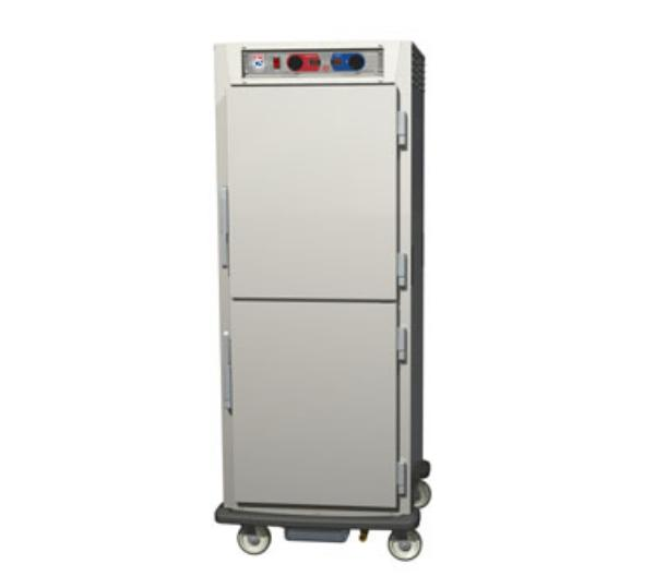 Metro C599-NDS-L C5 Full Height Control Temp & Humidity, Aluminum, Solid Dutch, Lip Load Slides