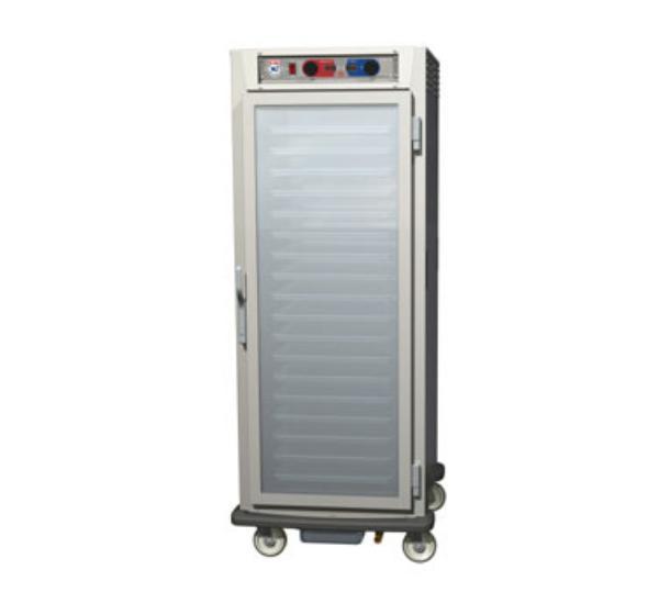 Metro C599-NFC-U C5 Full Height Control Temp/Humid, Aluminum, Clear Door, Universal Slides