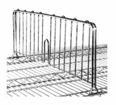 Metro DD14BL Super Erecta Shelf Divider w/ Black Finish