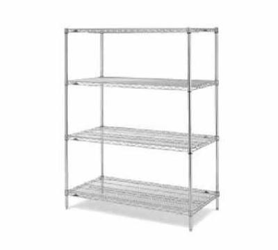 Metro EZ2436NC4 Super Erecta Convenience Pak Shelving Unit, 24 x 36 x 74-in H, Chrome