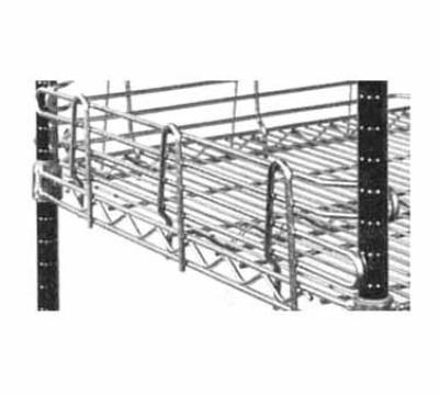 Metro L24N4C Super Erecta Shelf Ledge, 4 x 24 in, Side & Back, Chrome