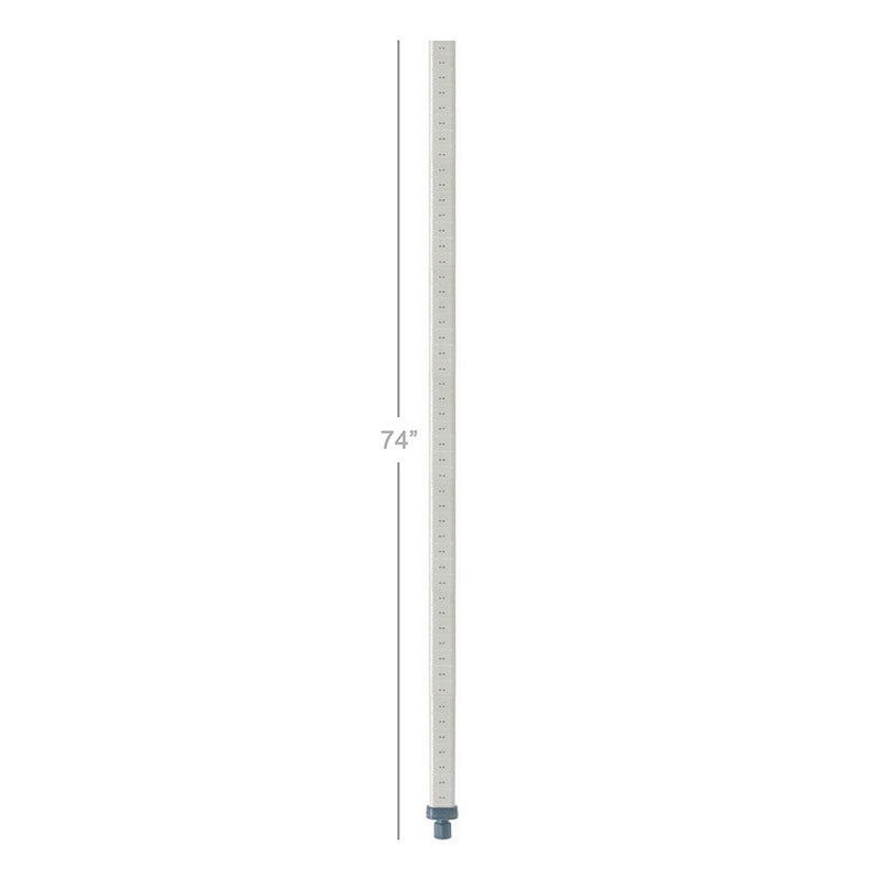 Metro MQ74PE MetroMax Q Post, 74 in H, for Stationary Use, Epoxy Coated