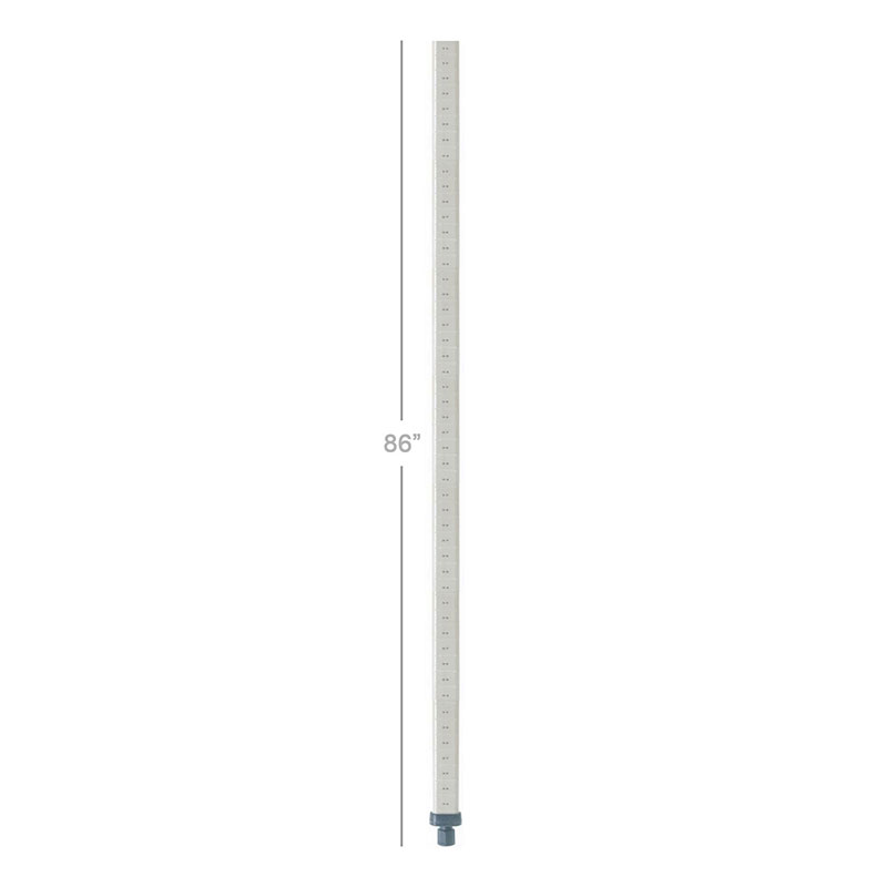 Metro MX86P MetroMax Post, 86 in H, Adjusts at 1/2 in Increments, Polymer