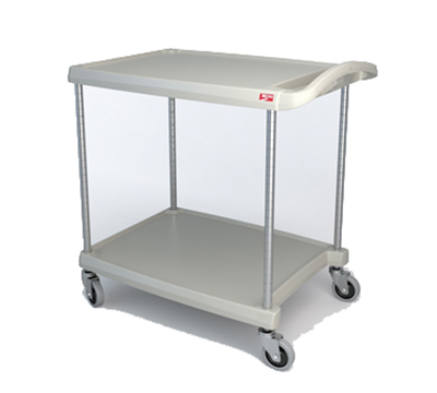 Metro MY2030-24G Utility Cart - 2-Shelf, Open Base, 300-lb