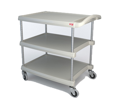 Metro MY2030-34G Utility Cart - 3-Shelf, Open Base, 400-lb Capacity, Gray