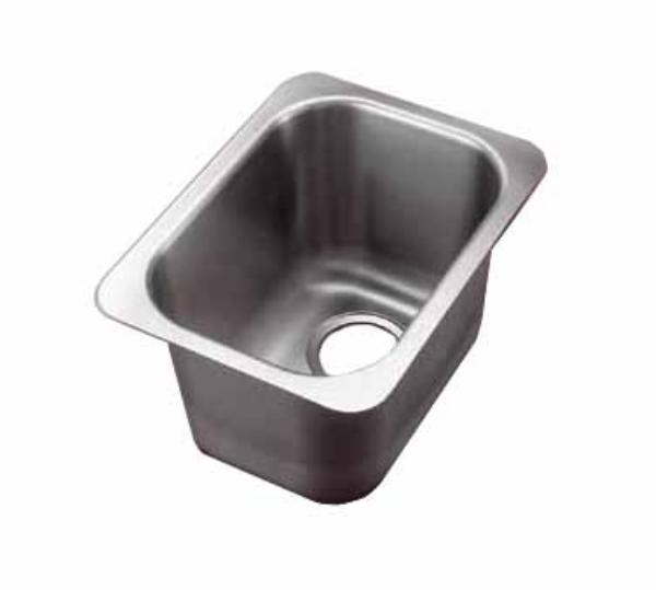 Polar Ware 10101-1 Yukon Institutional Drop-In Sink w/ Square Corners Restaurant Supply