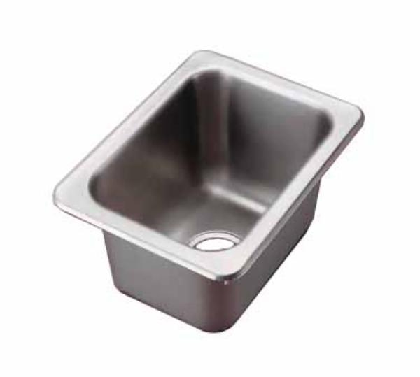 Polar Ware 101-1-2 Yukon Drop-In Sink 1 Compartment SS 13 in x 17 in Restaurant Supply