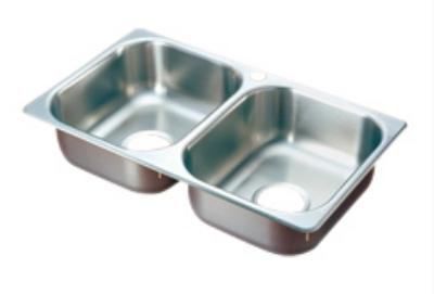 Polar Ware 102-1-2 2-Compartment Stainless Drop-In Sink w/ 2-in Drain