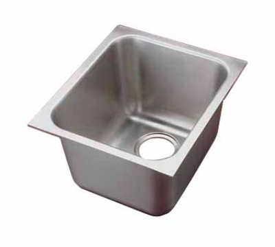 Polar Ware 121011 1-Compartment Institutional Drop-In Sink w/ Square Corners