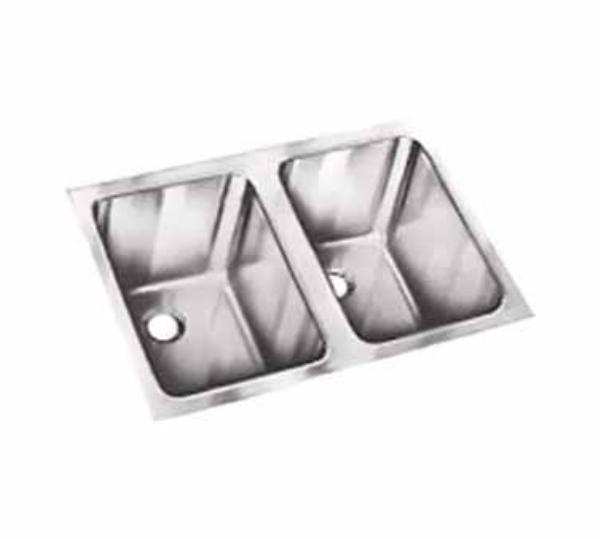 Polar Ware 12102-1 2-Compartment Institutional Drop-In Sink w/ Square Corners