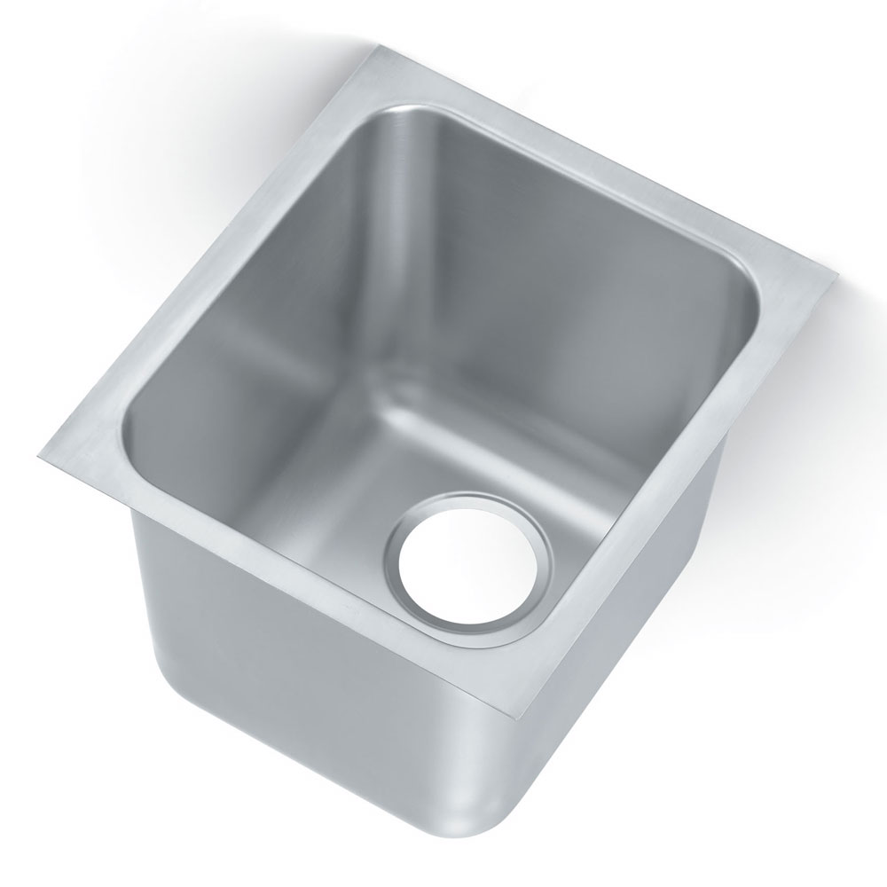 Polar Ware 12121-1R 1-Compartment Heavy Duty Stainless Drop-In Sink w/ Round Corners