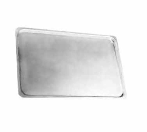 Polar Ware 1525 Serving Tray with Flat Flange, 25 x 15 x 5/8 in, Stainless Steel