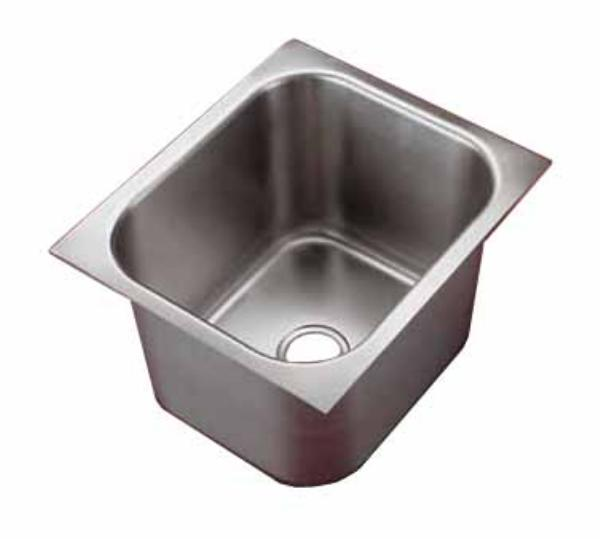 Polar Ware 16141-1 Yukon Institutional Drop-In Sink, 1 Compartment, Square Corners