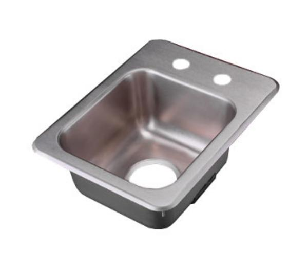 Polar Ware 173-4-2 Yukon Bar/Waitress Drop-In Sink, 13 in x 17 in