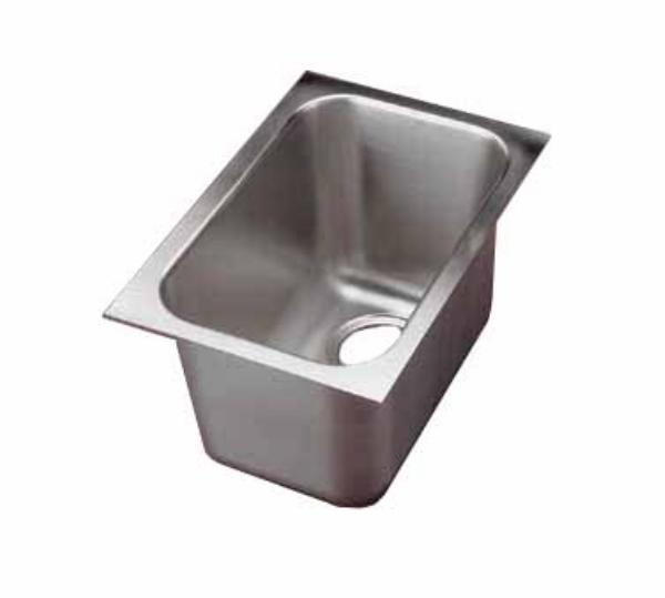 Polar Ware 9101-1R 1-Compartment Super Heavy Weight Drop-In Sink w/ Round Corners