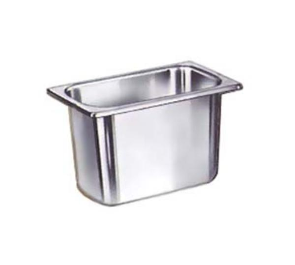 Polar Ware E902 Steam Table Pan, 1/9 Size, 2 in Deep, 22 Gauge Stainless Steel