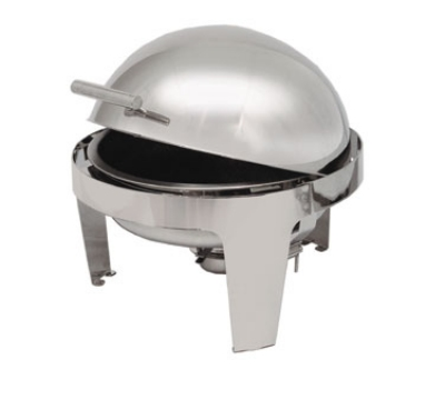 Polar Ware T3505 7 qt Round Roll-Top Chafer, Welded Frame, Two Fuel Holders