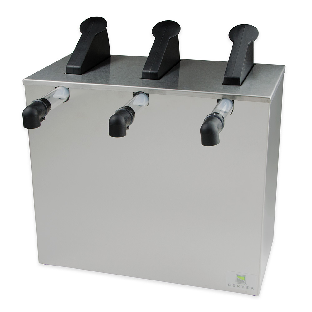 Server Products 07040 Countertop 3-Pump Dispenser For 3-Pouches, Stainless Base