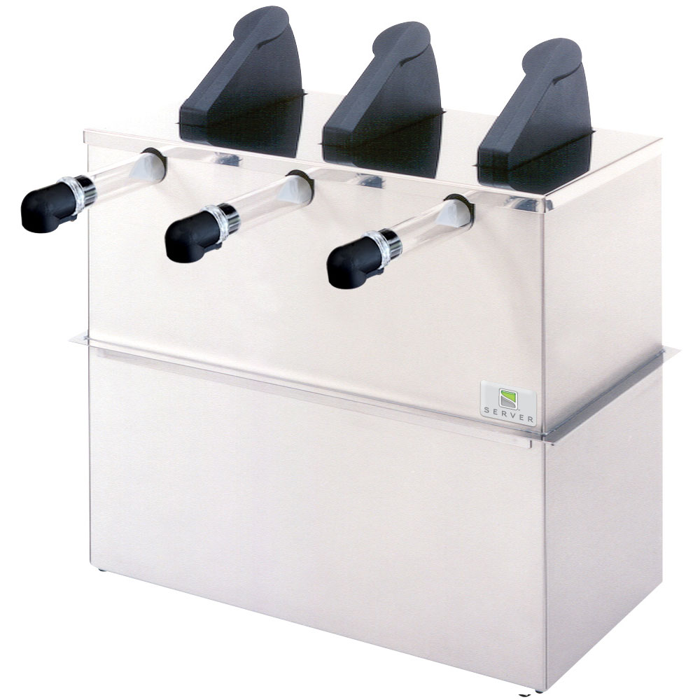 Server Products 07050 Drop In 3-Pump Dispenser For 3-Pouches, Stainless Base