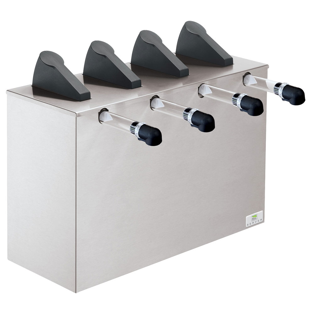 Server Products 07200 Countertop 4-Pump Dispenser For 4-Pouches, Stainless Base
