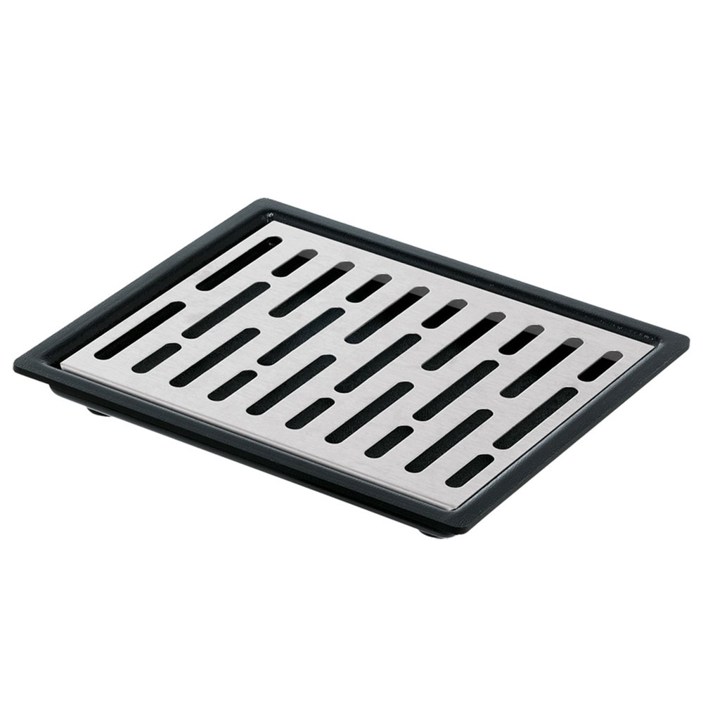 Server Products 07291 Single Drip Tray Assembly, 6-7/8 in x 5-7/8 in, Set On or Drop-In Countertop