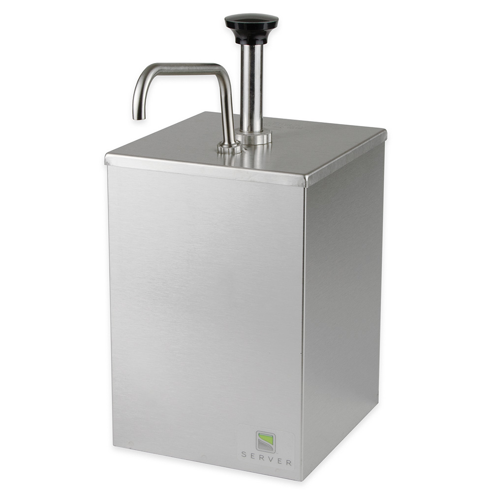 Server Products 67580 Single Stand - Thick & Particulate Product Dispenser, Stainless Steel Well