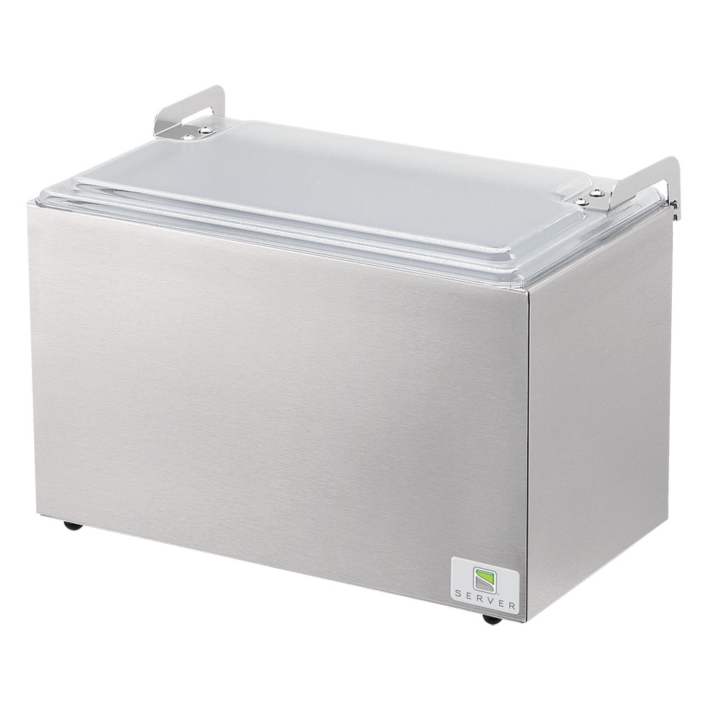 Server Products 67770 Insulated Server - Holds 2-Pans, Acrylic Hinged Lid, Stainless Steel