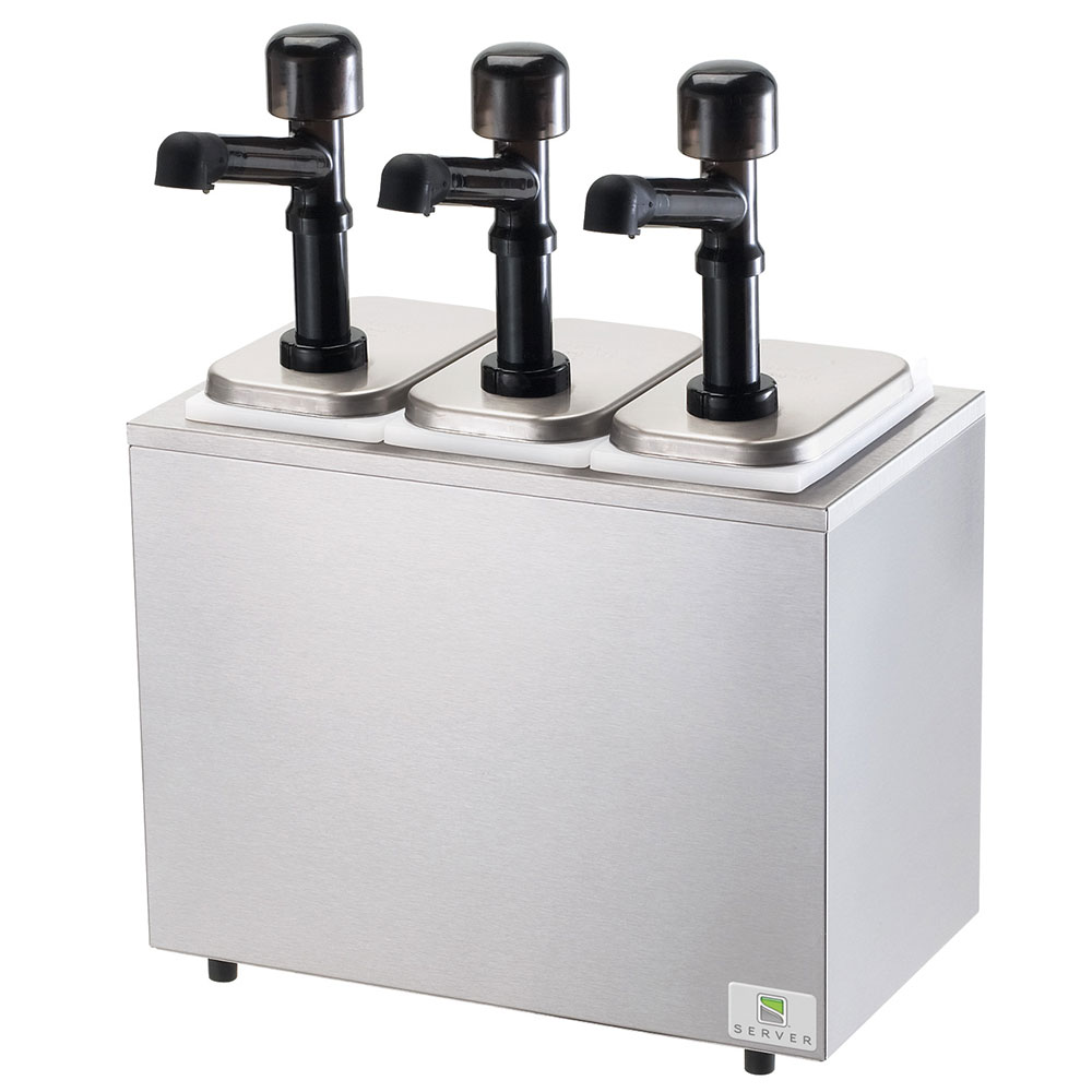 Server Products 79810 Server Solution Serving Bar, Countertop Design, Insulated, 3 Pumps