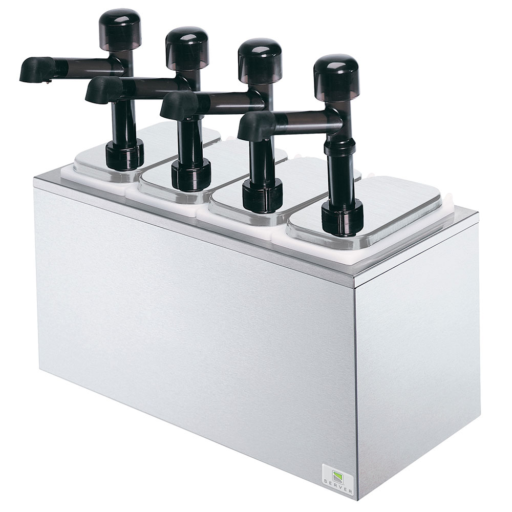 Server Products 79830 4-Pump Serving Bar, Insulated Countertop  Design, Stainless