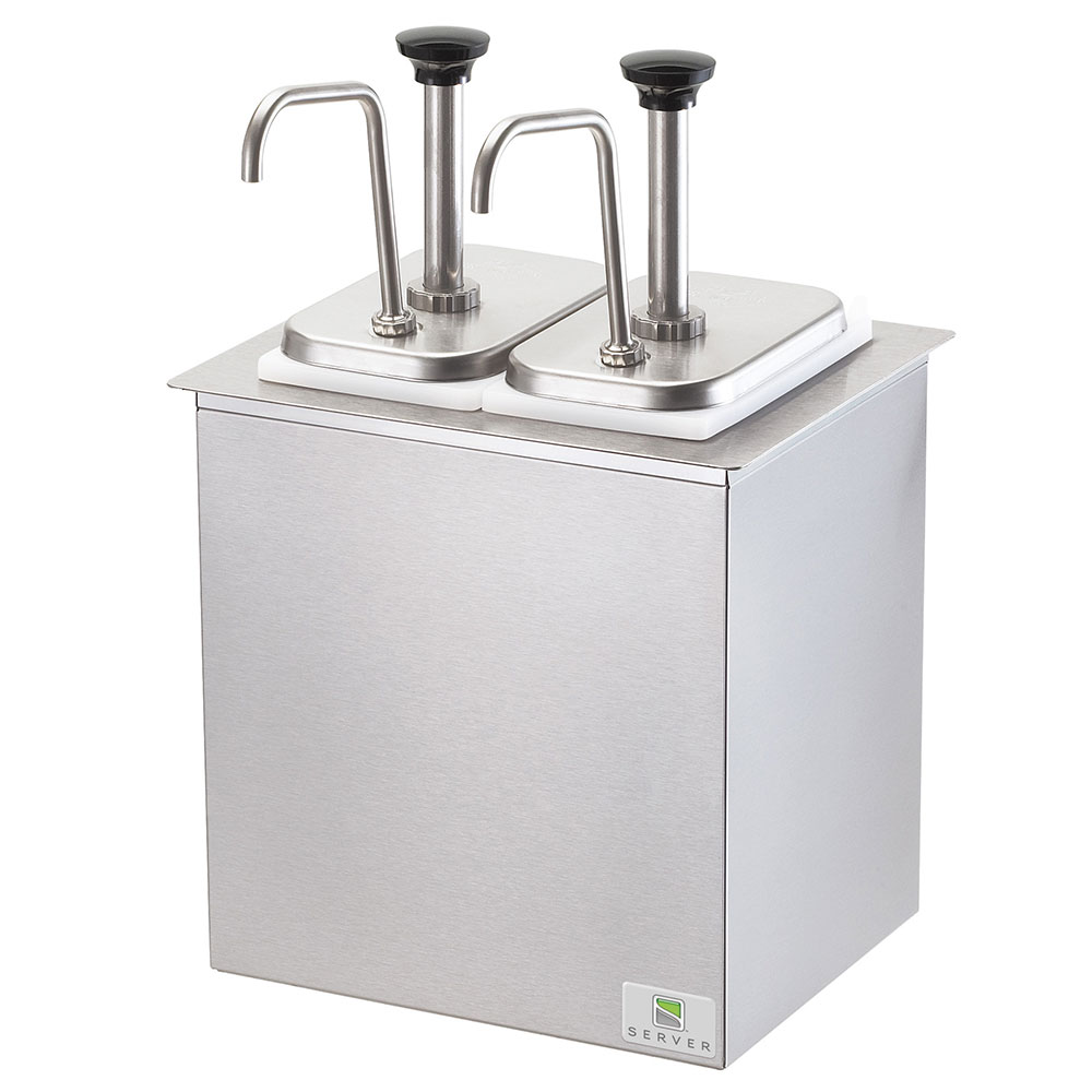 Server Products 79950 Drop-In Serving Bar, SS, 2 Pumps