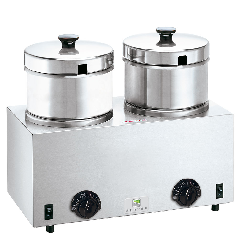 Server Products 81200 Food Server Warmer, (2) 4-qt Insets & Lids, 120 V