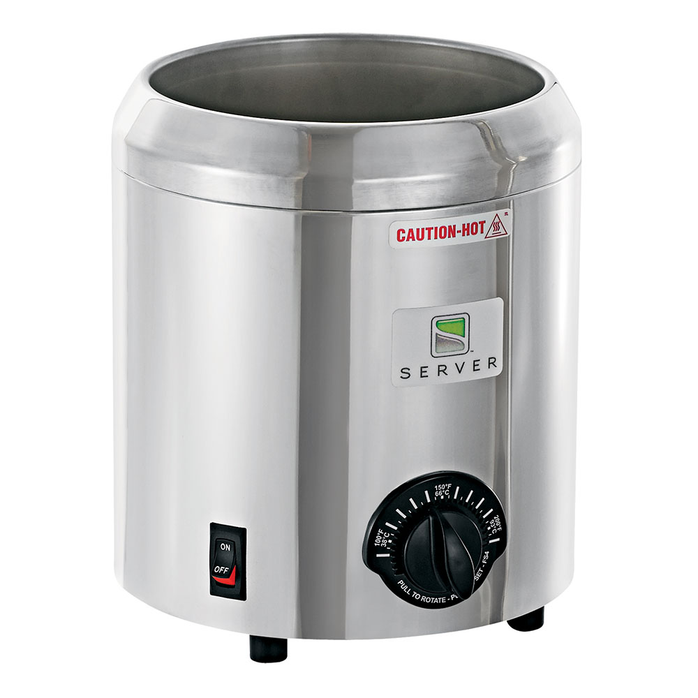 Server Products 82066 Food Server - Base Only, For Rethermalization, Bath Warmer Accepts 3-qt Jar